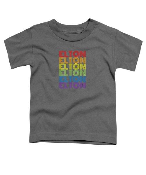 Retro Style Elton Rainbow  T-shirt Toddler T-Shirt