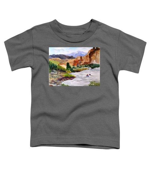 River Rafting In Montana Toddler T-Shirt