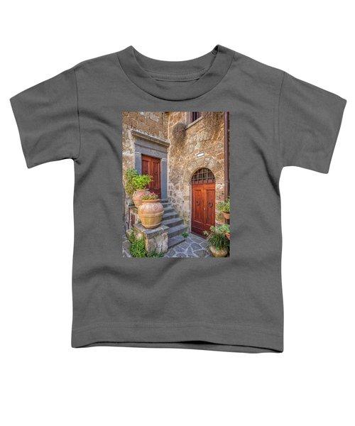Romantic Courtyard Of Tuscany Toddler T-Shirt
