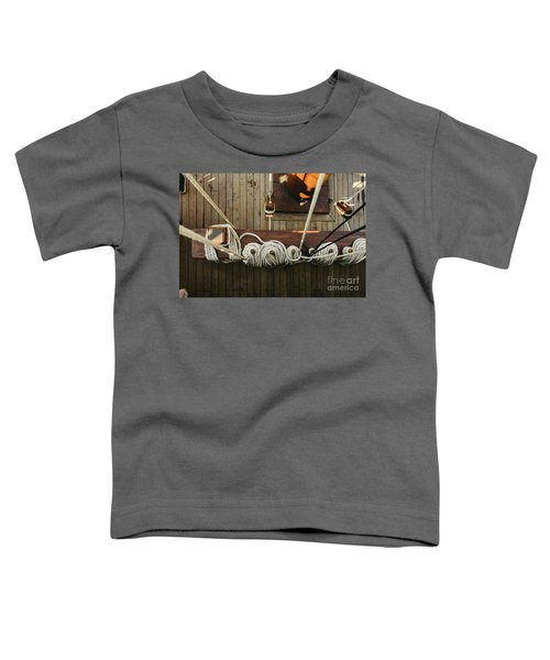 Ropes To Hold The Sails Of An Old Sailboat Rolled. Toddler T-Shirt