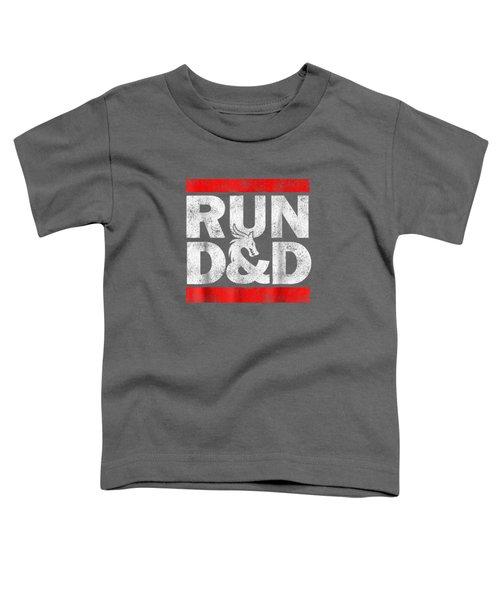 Run Dnd Dungeon Game Tabletop Rpg Shirt Toddler T-Shirt