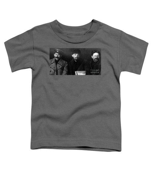 Russian Revolutionaries Leaders Josef Stalin, Vladimir Lenin And Mikhail Kalinin In 1919 Toddler T-Shirt