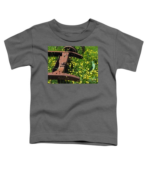 Rusted Wagon In A Field Of Flowers Toddler T-Shirt