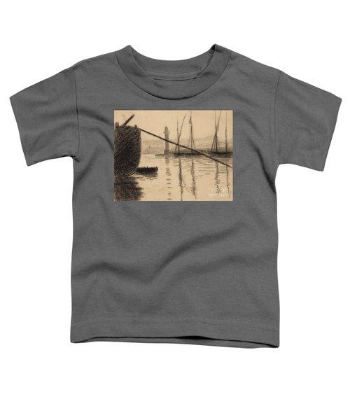 Saint Tropez, La Jetee Vue Du Chantier Naval Toddler T-Shirt