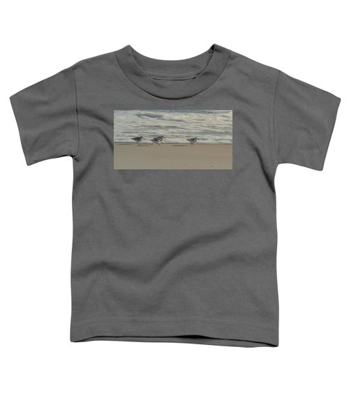 Sanderlings At Assateague Island National Seashore I 1x2 Toddler T-Shirt