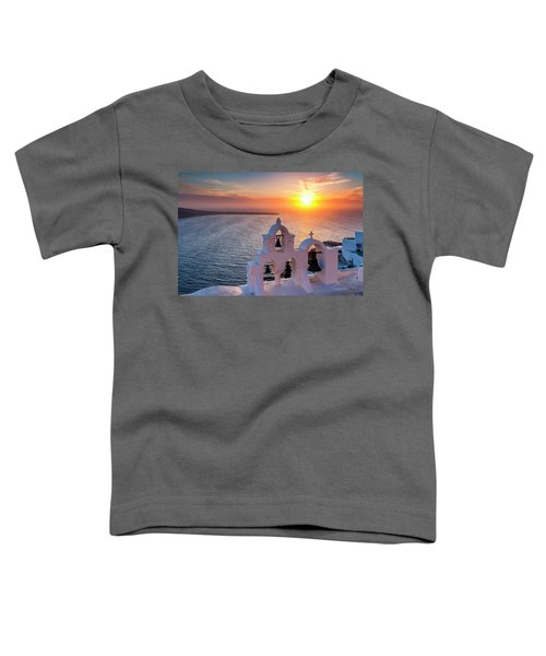 Santorini Sunset Toddler T-Shirt