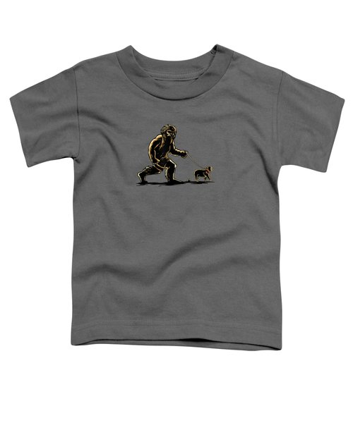 Sasquatch Walking French Bulldog T-shirt Frenchie Lovers Toddler T-Shirt