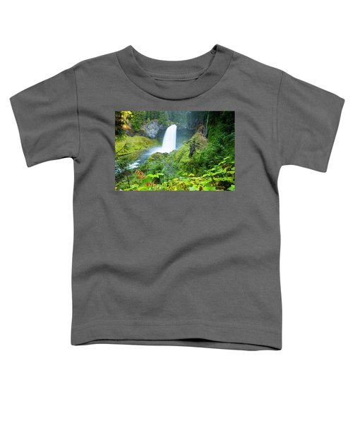 Scenic View Of Waterfall, Portland Toddler T-Shirt