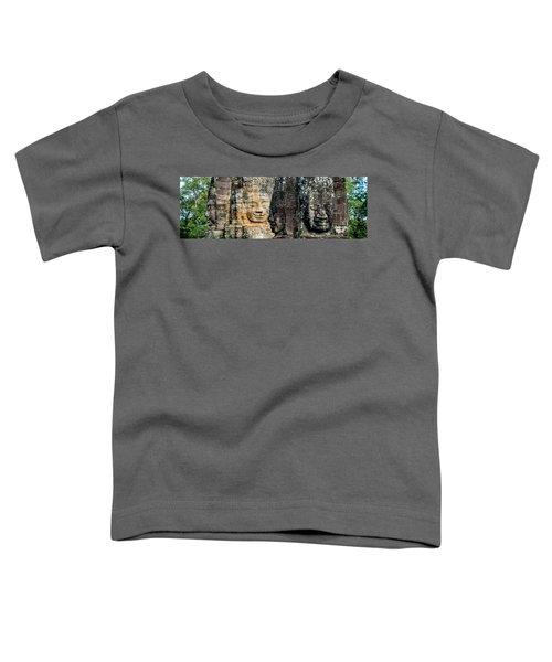 Sculptures At Bayon Temple, Angkor Toddler T-Shirt