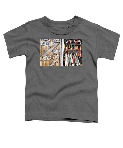Sea Shack Plates And Buoys Toddler T-Shirt