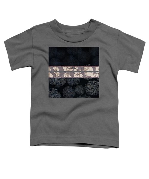 Sea Urchin Contrast Obi Print Toddler T-Shirt