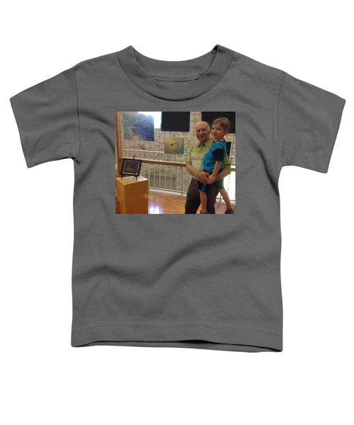 Self Portrait 14 - Viewing My Art With Max At Old Bakery Emporium Austin 2018 Toddler T-Shirt