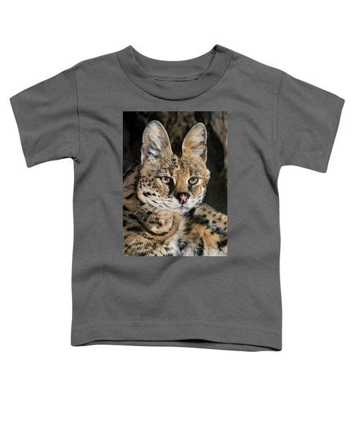 Serval Portrait Wildlife Rescue Toddler T-Shirt