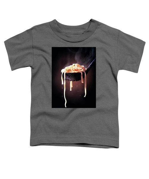 Serving Cooked Fettuccine Steaming Hot Toddler T-Shirt