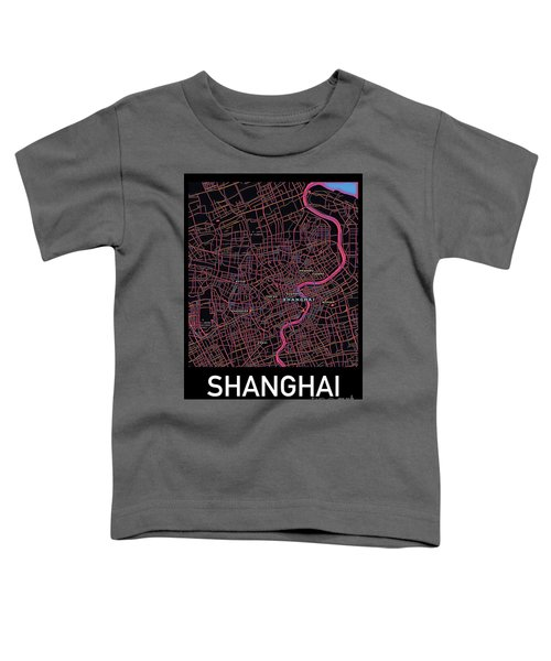 Shanghai City Map Toddler T-Shirt
