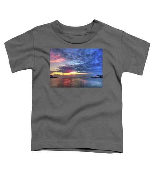 Ship Bottom Sunset Toddler T-Shirt