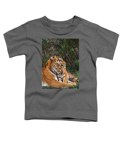 Siberian Tiger Mother And Cub Endangered Species Wildlife Rescue Toddler T-Shirt