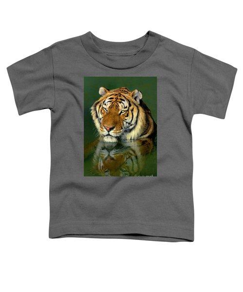 Siberian Tiger Reflection Wildlife Rescue Toddler T-Shirt
