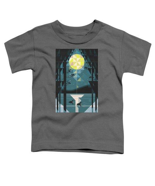 Silent Night Over Houghton Lake Michigan Toddler T-Shirt