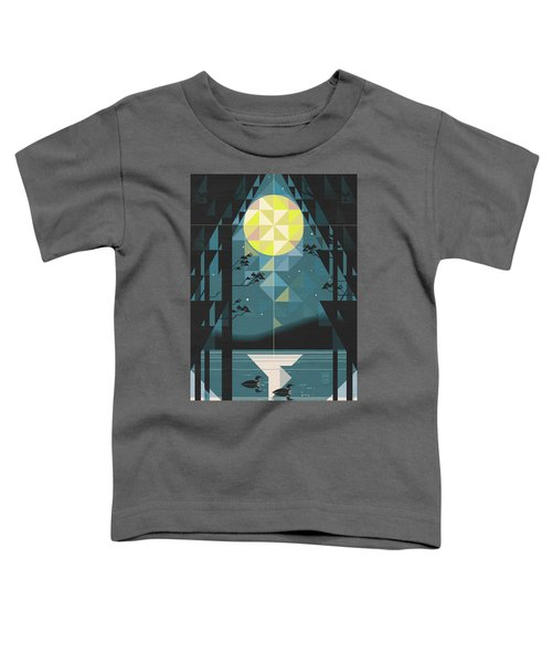 Silent Night Over Houghton Lake Michigan Toddler T-Shirt