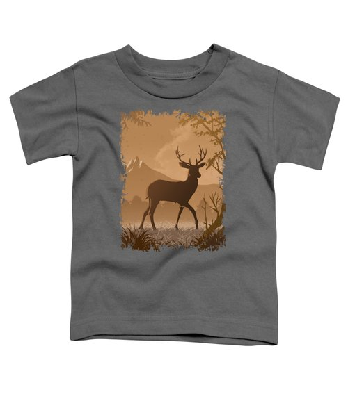 Silhouette Deer Toddler T-Shirt