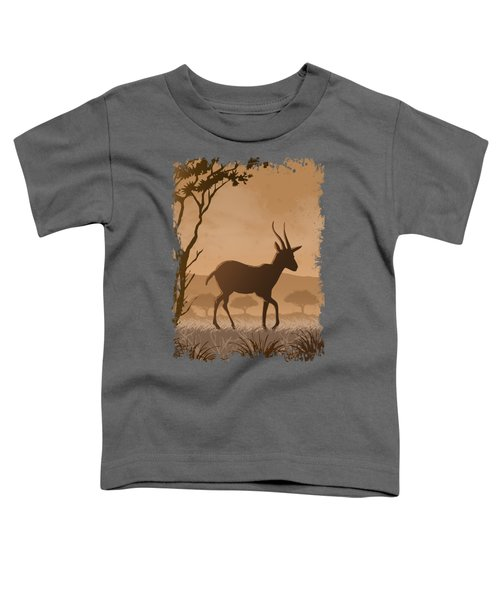 Silhouette Gazelle Toddler T-Shirt