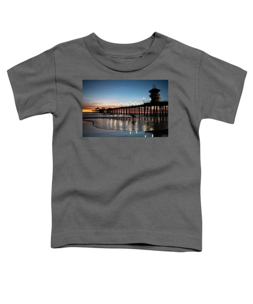Silhouette Of Surfer At Huntington Toddler T-Shirt