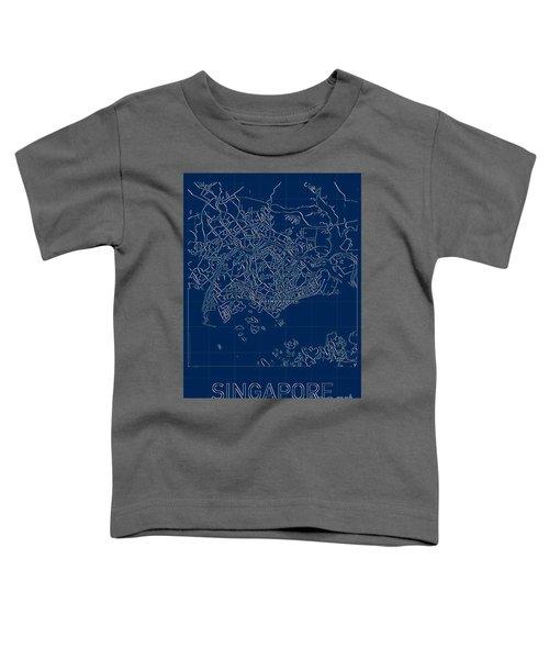 Singapore Blueprint City Map Toddler T-Shirt