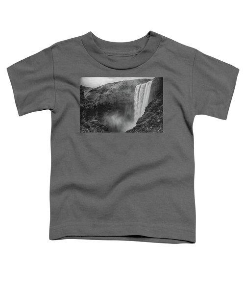 Skogafoss Iceland Black And White Toddler T-Shirt