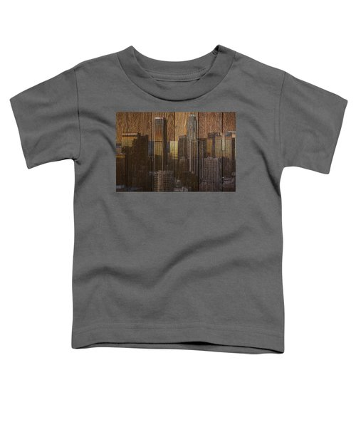 Skyline Of Los Angeles, Usa On Wood Toddler T-Shirt
