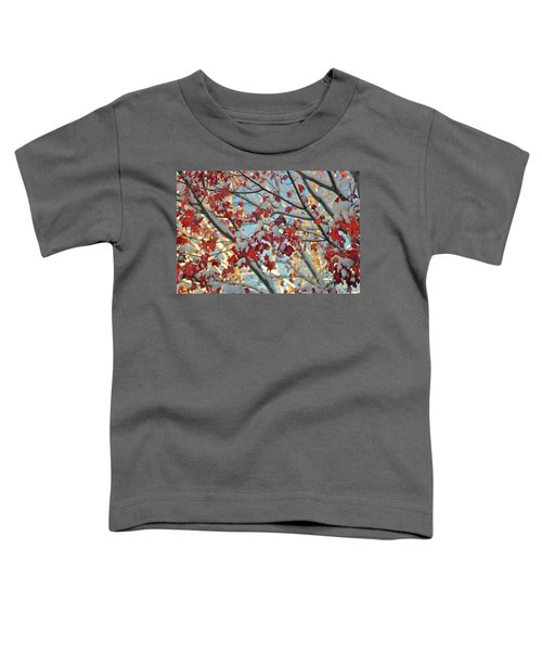Snow On Maple Leaves Toddler T-Shirt