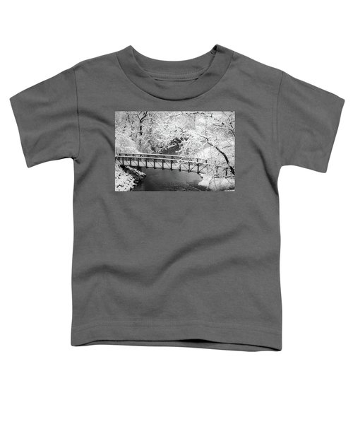 Snowy Bridge On Mill Creek Toddler T-Shirt