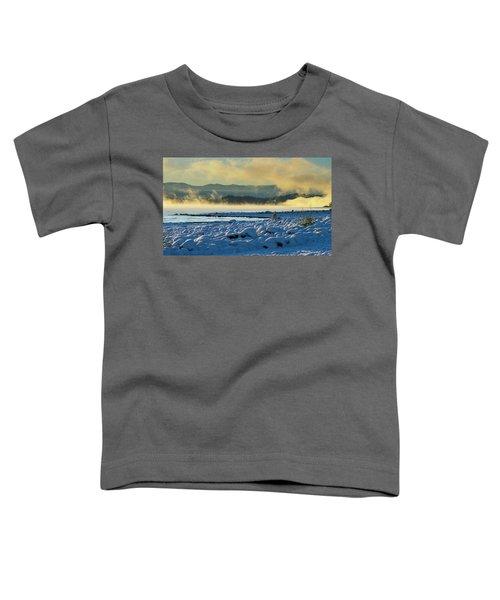 Snowy Shoreline Sunrise Toddler T-Shirt