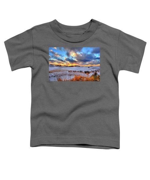 Snowy Sunset Toddler T-Shirt