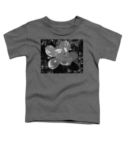 Southern Magnolia In Black And White Toddler T-Shirt