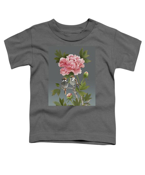Sparrows And Peony Toddler T-Shirt