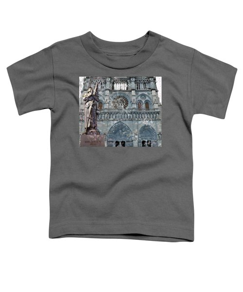 St Joan Of Arc Watch Over Notre Dame Toddler T-Shirt