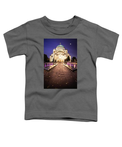 St. Sava Temple In Belgrade Nightscape Toddler T-Shirt