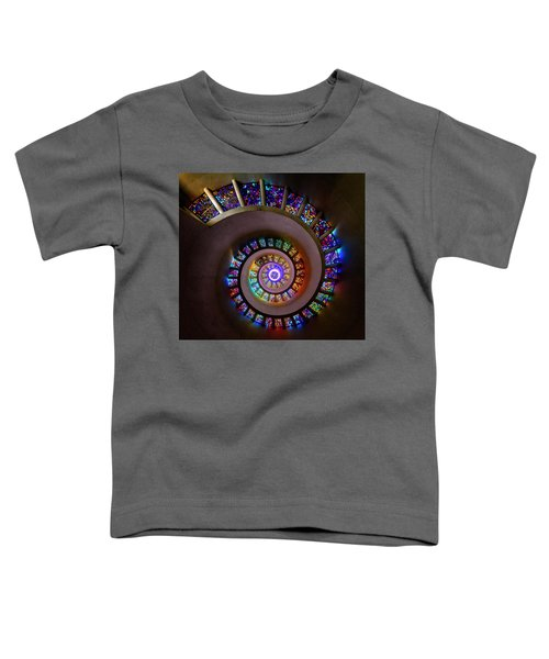 Stained Glass Spiral Toddler T-Shirt