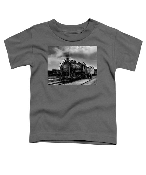 Steam Locomotive In Black And White 1 Toddler T-Shirt