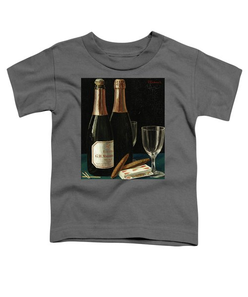 Still Life With Champagne, Cigars, And A Pack Of Playing Cards Toddler T-Shirt