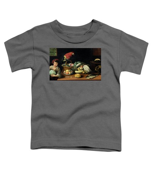 Still Life With Fruit, Parrot, Fish And Vegetables Toddler T-Shirt