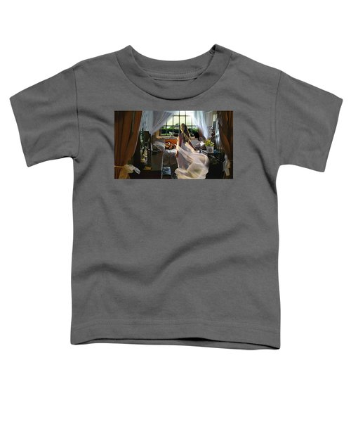 Toddler T-Shirt featuring the photograph Still Twirling In My Room by Alison Frank