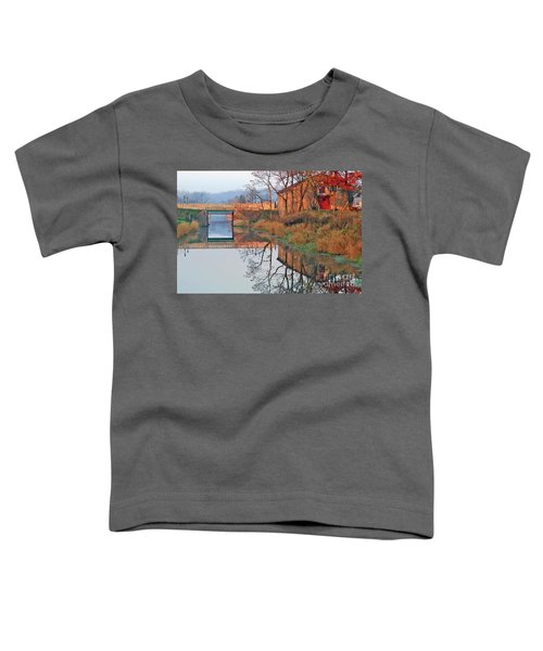 Still Waters On The Canal Toddler T-Shirt