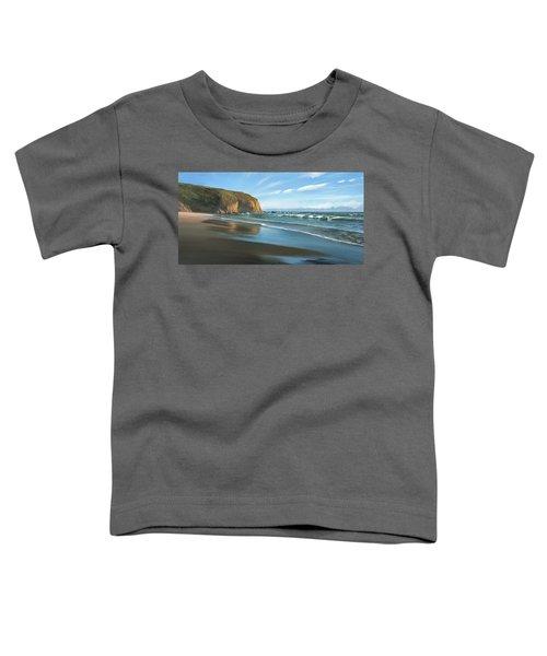 Strands Beach Dana Point Oil Painting Toddler T-Shirt