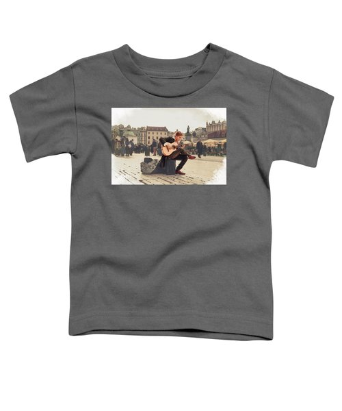 Street Music. Guitar. Toddler T-Shirt