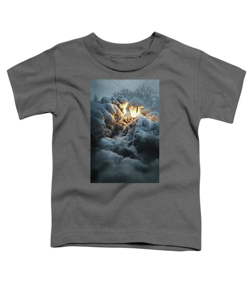 Streetlamp In The Snow Toddler T-Shirt