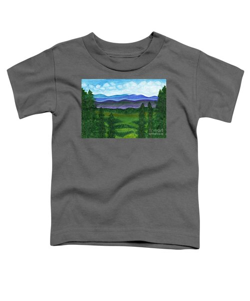 View From A Mountain Slope To Distant Mountains And Forests Toddler T-Shirt