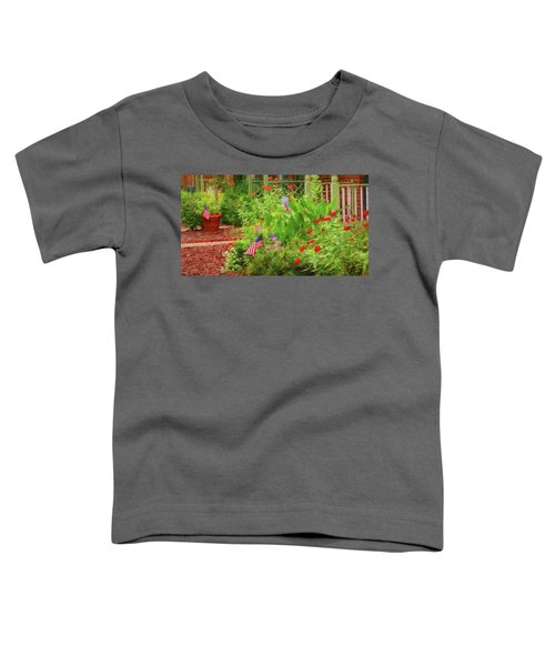 Summertime In The Flower Garden Toddler T-Shirt