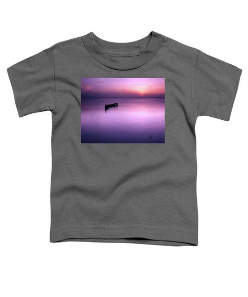 Sun Sets On A Sunken Boat Toddler T-Shirt
